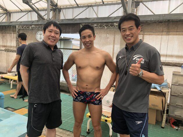 富田宇宙選手と米田先生